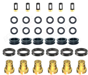 For Toyota 3.4 V6 5VZFE Fuel Injector Rebuild kit o-rings Seals Filters Caps