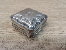 Tobacco Snuff / Pill - Vintage Sterling Silver Box with Lion Hallmark.