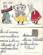 CPA illustrée Bon Noël - Enfants Hollandais, Jouets