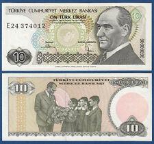Turchia/Turkey 10 LIRA 1970 (1982) p.193 UNC