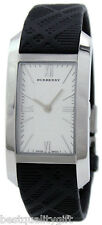 NEW BURBERRY ENGRAVED DIAL PLAID CHECKED LOGO LEATHER SMALL WATCH BU1083