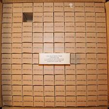 Sylvania JAN-CHS 7A8 - Original case of 100 ! October 1951. Perfect NOS tubes.