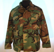 Official US MILITARY Cold Weather FIELD COAT Woodland Camo Medium X-Short Combat