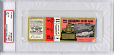 1969 Texas Longhorns UT vs OU Oklahoma Full Ticket PSA Red River Shootout