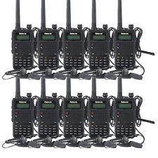 New 10x Retevis Walkie-Talkie FM 1750Hz RT5 Dual Band 136-174+400-520MHz 8W 7.4V