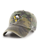 Pittsburgh Penguins 47 Brand Clean Up Camo Adjustable Strap Cotton Hat Cap NHL