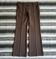 Express Editor Sz 6 Mid Rise Flat Front Boot Cut Dress Career Pants Brown