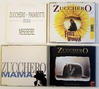 ZUCCHERO ♦ Lot 4 x CD ♦ inc. FRENCH MAXI-CD, RARE PROMO...
