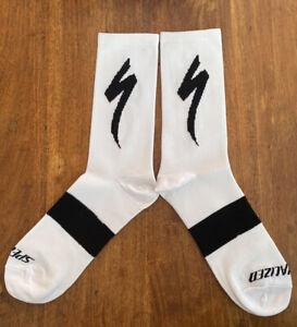 New White SPECIALIZED S-Works CYCLING SOCKS UK SIZE 39-44 road bike socks