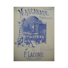 LACOME Paul Masquerade Air Ballet for Piano 4 hands ca1886 partition sheet m