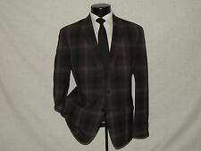 JOHN VARVATOS men's 2 button dual vents Bold plaid sports jacket coat 44 R