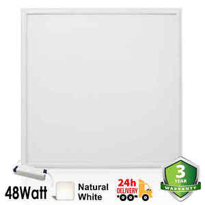 48W LED Recessed Ceiling Lights Suspended Down Panel Light Natural White 600x600