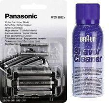 Panasonic wes9032/9030y scherfolie + cuchilla es-lv81 + marrón limpieza spray