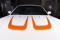 Vinyl Graphics Decal Wrap Kit fits 2011-2014 Dodge Charger Hood C-Stripe ORANGE