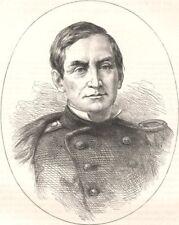 MILITARIA. Civil War. Major Anderson c1880 old antique vintage print picture