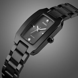Fashion Women Ladies Girl Stainless Steel Quartz Bracelet Wrist Watch Waterproof