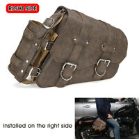 Right Motorcycle Side Saddle Bag Luggage Pannier W/ Fuel Bottle Holder Universal