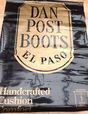 Vintage Advertising Sign Banner Dan Post El Paso Cowboy Boots American Western