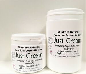 Just Cosmetic Base Cream Fully Natural Vegan High Vit E Pre-Preserved Unscented