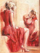 Talantbek Chekirov: The Mirror 60x80 Keilrahmen-Bild fertig Mädchen Frau