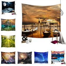 Nature Landscape Print Tapestry Wall Hanging Background Cloth Blanket Room Decor