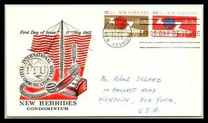GP GOLDPATH: NEW HEBRIDES COVER 1965 FIRST DAY OF ISSUE _CV674_P08