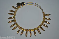 Alex and Ani Expandable + Energy Bracelet Russian Gold Spike of Confidence Honey