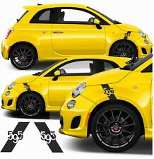 Fiat 595  Abarth Scorpion wing fender wheel arch Decals / Stickers