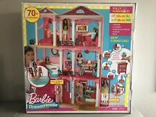 New Mattel Barbie DreamHouse Doll 3 story 70+ Accessories Fully Furnished