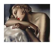 Tamara De Lempicka The Sleeping Chica era Art Deco Nouveau impresión 55 X 70 Cm Nueva