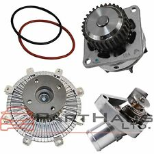 FOR Nissan Frontier NV Pathfinder Xterra Water Pump Fan Clutch Thermostat Kit