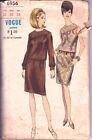 6956 VOGUE c.1960s - 2Pc DRESS w Asymetrical BLOUSE & SKIRT - Sz 12 B 32