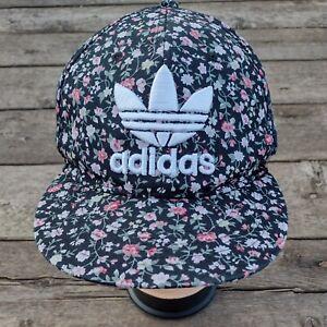 Vintage Adidas Sport Snapback Baseball Cap Women's Floral Embroidered Big Logo