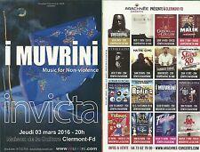 FLYER - I MUVRINI ( CORSE) CONCERT LIVE 2016 A CLERMONT FERRAND - AUVERGNE