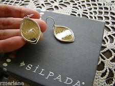 """""""Timber"""" Earrings W2431 Silpada Sterling Silver Bronze"""