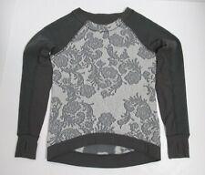 Lululemon Fleet Street Pullover Black / White / Heathered Black / Soot Size S