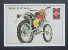 Vignette GILERA 50 5V ENDURO PANINI Super Moto n°63 Sticker Aufkleber 1975