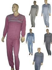 Herren  Schlafanzug Pyjama lang  Arm-u.Beinbündchen Gr. M-XXXL Top Qualität