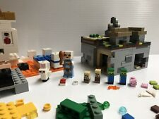 LEGO Minecraft Micro World: The Village 21105 Villager Pig Zombie Complete Lot