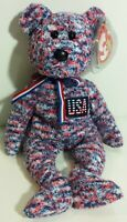 "TY Beanie Babies ""USA"" the Patriotic America TEDDY BEAR - MWMTs! GREAT GIFT!"