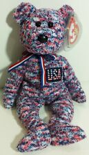 "TY Beanie Babies ""USA"" the Patriotic America TEDDY BEAR - MWMTs! PERFECT GIFT!"