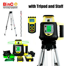 Green Electronic Leveling Rotating Rotary Laser Level &R/C Detecter Tripod Staff