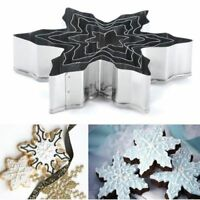 5Pcs/set Stainless Steel Snowflake Cookie Fondant Cake Gum Paste Mould Cutter