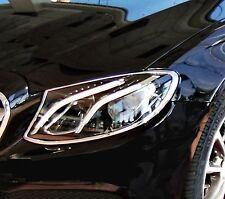 Mercedes E Class W213 4DR Chrome Headlight Trim Bezels by Luxury Trims 2017-2020