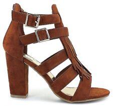 High Heel Strappy Sandal *Size 12 Wide* BROWN Open Toe*Ankle Straps*Crossdresser