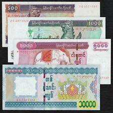 MYANMAR BURMA 500 1000 5000 10000 Kyats Set 4 PCS 2004 2015 P-79 80 83 84 UNC