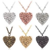 Locket Pendant Necklace Hollow Heart Custom Photo Box Pendant Fashion Jewelry