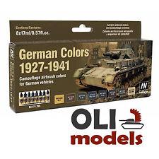 GERMAN AFV VEHICLES COLORS 1927-1941 Model Air Paint Set 8x17ml - Vallejo 71205
