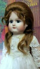 Very rare French reproduction antique doll Petit Dumoutier Seeley body mohair