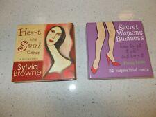 Vintage HEART & SOUL / SECRET WOMENS BUSINESS CARDS Browne Rowe Tarot Oracle NMC